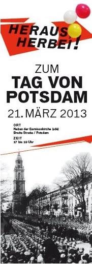 Demoaufruf der BI Potsdam ohne Garnisonkirche für den 21.3.2013