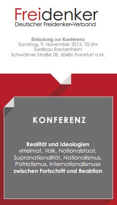 Freidenkerkonferenz in Frankfurt am Main 9.11.2013