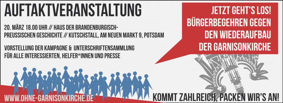 Auftaktveranstaltung BI gegen der Wiederaufbau der GK Potsdam