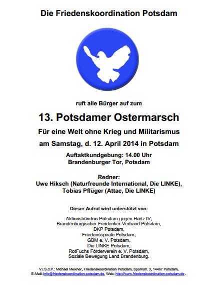 Ostermarsch 2014 - Aufruf (Bild)