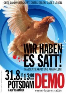 Demo 31.08.2014 in Potsdam: Wir haben es satt!