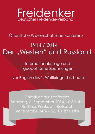 """Konferenz: Der """"Westen"""" und Russland"""