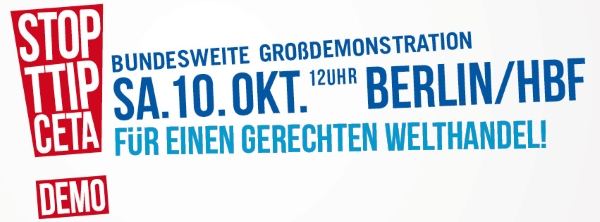 Anti-TTIP-Demo am 10.10.2015 in Berlin