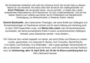 Johanna Arndt: Ich schreibe um zu leben