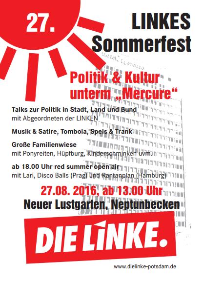 27.08.2016 Sommerfest der Linken Potsdam