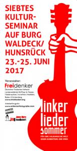23. bis 25. Juni 2017 - Linker Liedersommer auf Burg Waldeck