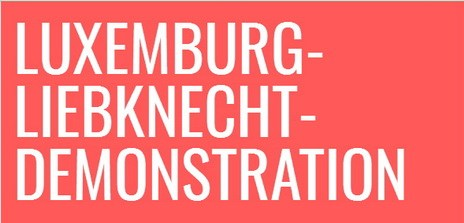 Luxemburg-Liebknecht-Demonstration am 13. Januar 2019 in Berlin